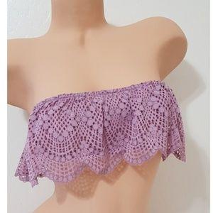 3/15 Victoria's Secret Strapless Lace Bandeau